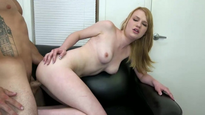Maci More gets pounded & facialed on the casting couch