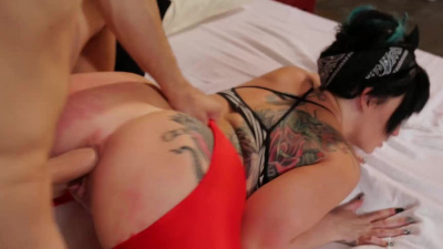Axis Evol get ripped her spandex & her tight butthole