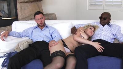 Kagney Linn Karter daydreaming about an interracial mmf threesome