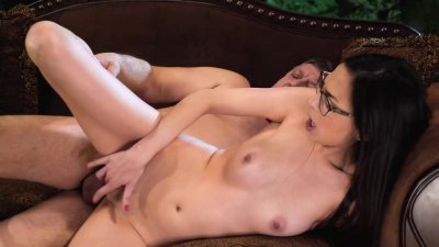 Super hot babe Ashley Ocean loves to get her tight pussy fucked by a grandpa