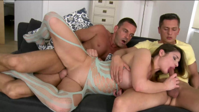 Hungarian chick Cathy Heaven double penetrated by some horny studs