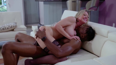 Loving wife Dee Williams has to take a big black cock to protect her husband