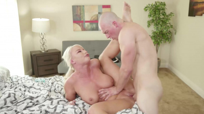 Busty London River teaches her stepson how to please a woman