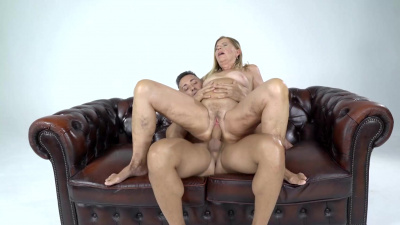 Sexy granny Samantha is so happy to take a young cock