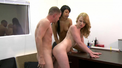 Esmi Lee and Maci More hell of a threesome