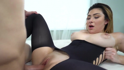 Serena Skye gets her stockings ripped before getting fucked by a big dick