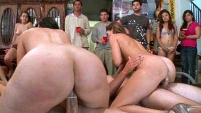 Diamond Kitty, Jennifer Dark and Jada Stevens wild college dorm orgy