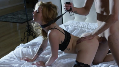 Obedient slut Arya Fae submits to rough pussy fucking
