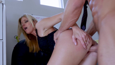 Hot milf India Summer demands sex from her employee in exchange for a job