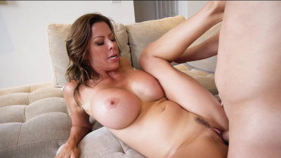 Dominant stepmom Alexis Fawx wants a huge load out of her stepson all over her pretty face