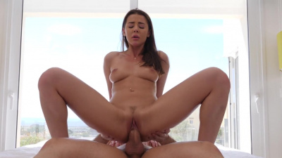 Slim girl Sybil gets pounded from every angle
