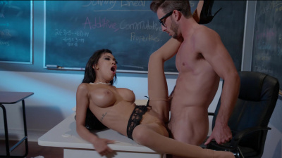 Professor Gia Milana teaches her student how a virgin should fuck and gain confidence