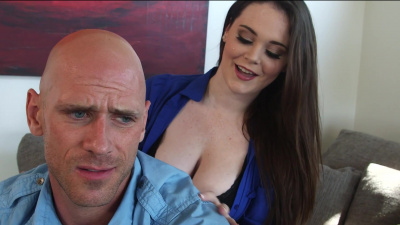 All natural Tessa Lane pounces on a bald porn legend