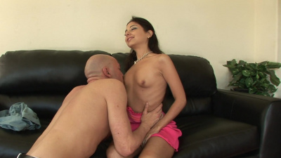 Trinity St. Clair receives a deep creampie