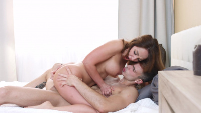 Auburn-haired hottie Natali Ruby anal fuck session of a lifetime