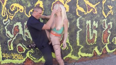 Hooker Skylar Madison punished by cop in public
