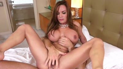 Mom Diamond Foxxx gets anal fucked hard and rough by her stepson