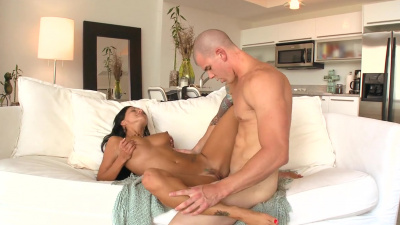 Ava Addams does her best to please a young dude