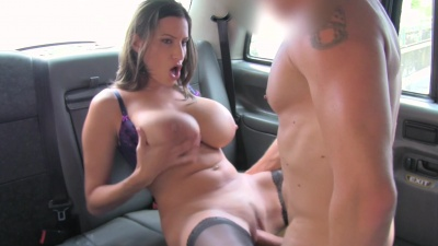 Busty romanian Sensual Jane gets fingered & banged for a free cab